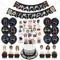 Друзья ТВ шоу тема вечерние воздушные шары друзья торт Топпер с днем рождения баннер для вечеринки в честь Дня Рождения вечерние украшения ...