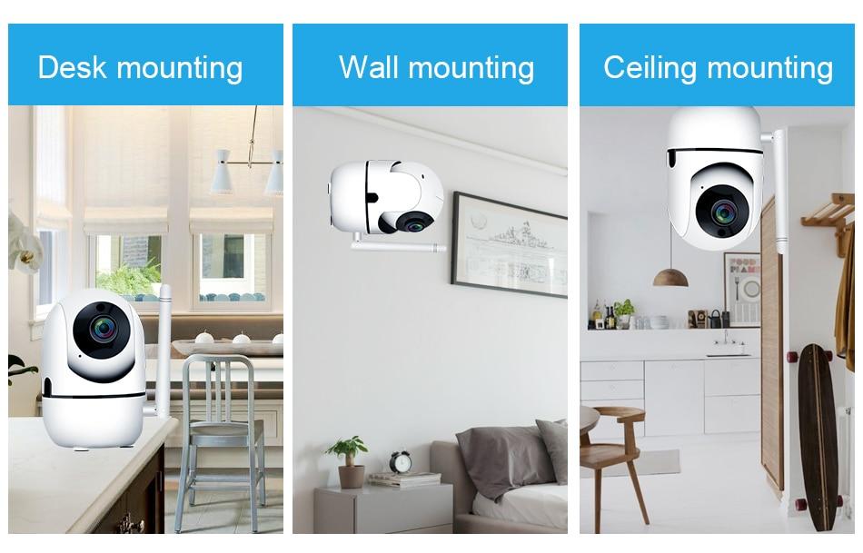 Smar HD 1080P Cloud Wireless IP Camera Intelligent Auto Tracking Of Human Home Security Surveillance CCTV Network Wifi Camera (9)