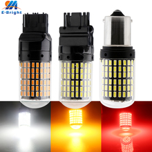 1X CanBus T20 7440 W21W LED Bulbs 3014 144 smd led No Error 1156 BA15S P21W BAU15S PY21W lamp For Turn Signal Light Flash