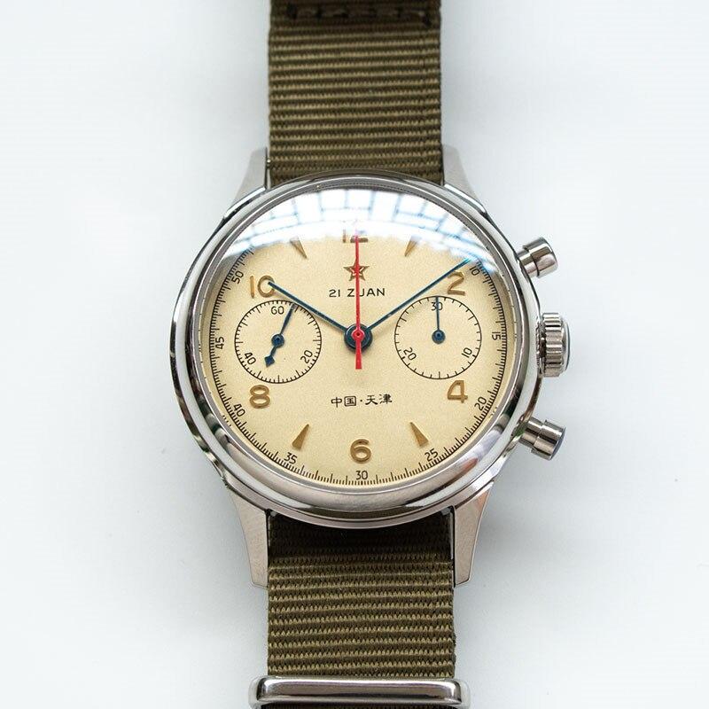 H8545ae11e0b04ad19d83e3c419262ce8J Classic 1963 D304 Chronograph Men Pilot Wrist Watch Mechanical Hand Wind Seagull ST1901 Movement Aviator Watches Sapphire Glass