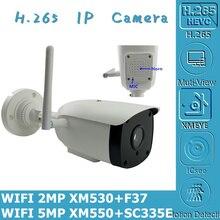 WIFI אלחוטי 5MP 2MP 2592*1944 IP Bullet מצלמה דו כיוונית אודיו מיקרופון רמקול NightVision IRC RTSP P2P נייד 8 128G מיני SD כרטיס