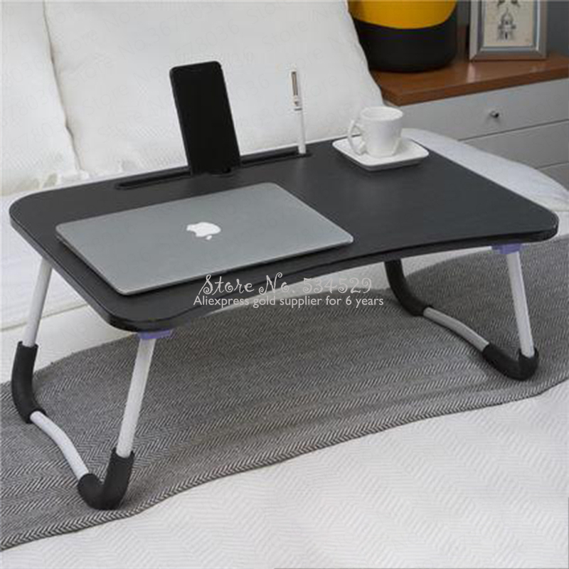 21% Bed Folding Small Table Dormitory Student Student Laptop Desk Multi-function Bracket Table Bedroom Lazy Folding Desk