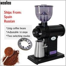 Xeoleo máquina de café filtro elétrico ghost dentes rebarba moedor 200w café miller máquina moinho 10 passos preto/rosa/amarelo