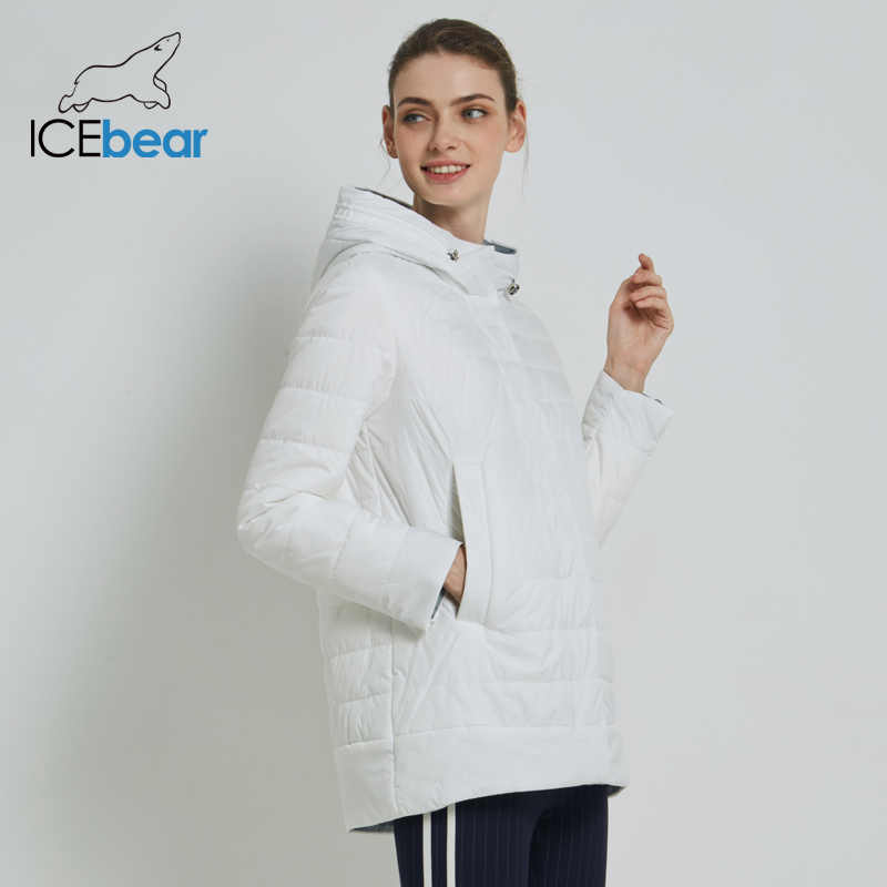 ICEbear 2019 Women's Coat High Quality Woman Jacket Casual Female Clothing Hooded Women's Coat GWC19015I