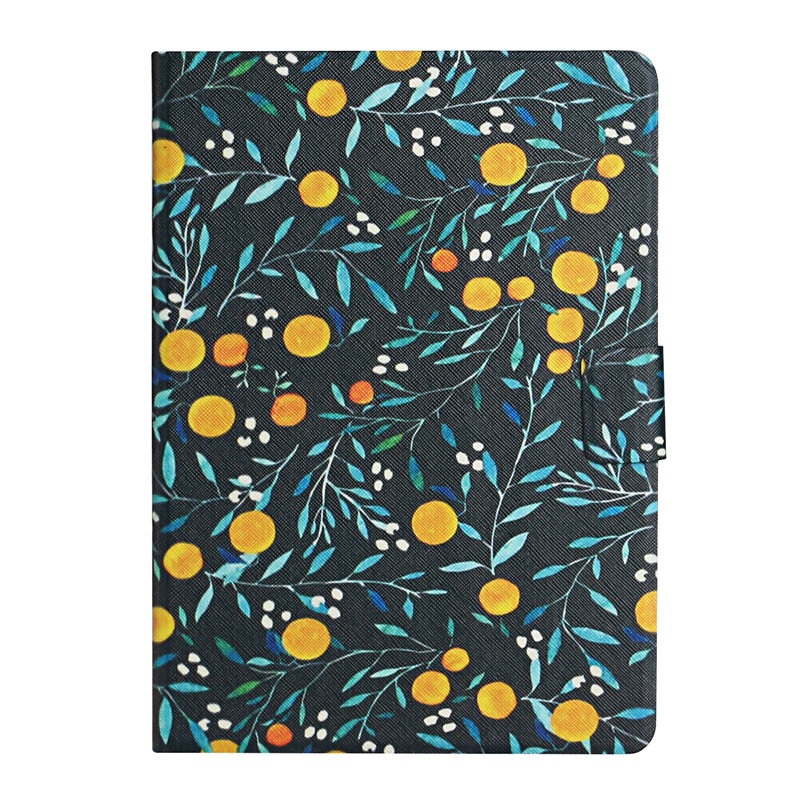 orange Red Case for iPad 7th Generation Case Flower Painted Cover Funda for Apple iPad 10 2 2019