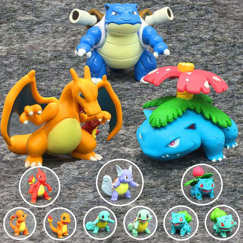 Dolls Action-Figure Blastoise First-Generation Charizard Bulbasaur Squirtle Pokemon Takara Tomy title=