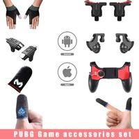 2 Pcs giochi per telefoni guanti da dito copertura per dito per PUBG Touch Screen gioco Trigger Joystick Controller Mobile accessori di gioco