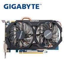 Gigabyte gtx 660 2gb placas de vídeo 192bit gddr5 n660 2g mapas da placa gráfica para nvidia geforce GV-N660WF2-2GD cartões hdmi usados