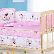 Baby Crib Bed-Bumper Bedding-Set Animal Newborns Infant Children's 100%Cotton Cartoon