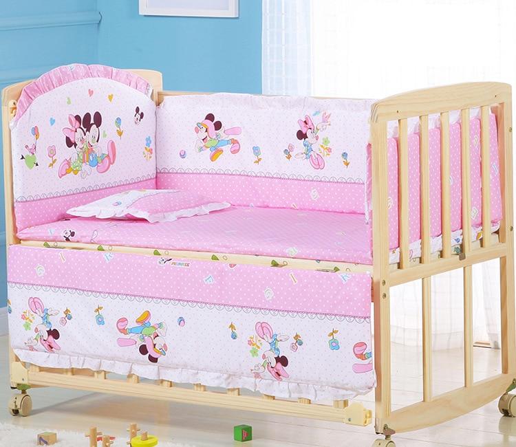 5Pcs/Set Cartoon Animal Baby Crib Bed Bumper For Newborns Infant Bedding Set 100%Cotton Children's Bed Protector Room Dec   ZT25