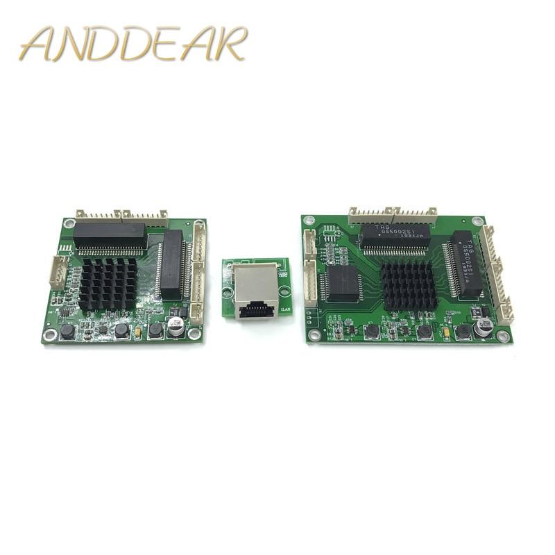 Industrial Grade Mini 3/4/5 Port 10/100/1000Mbps Full Gigabit Switch To Convert Transfer Module Equipment Weak Box Switch Module