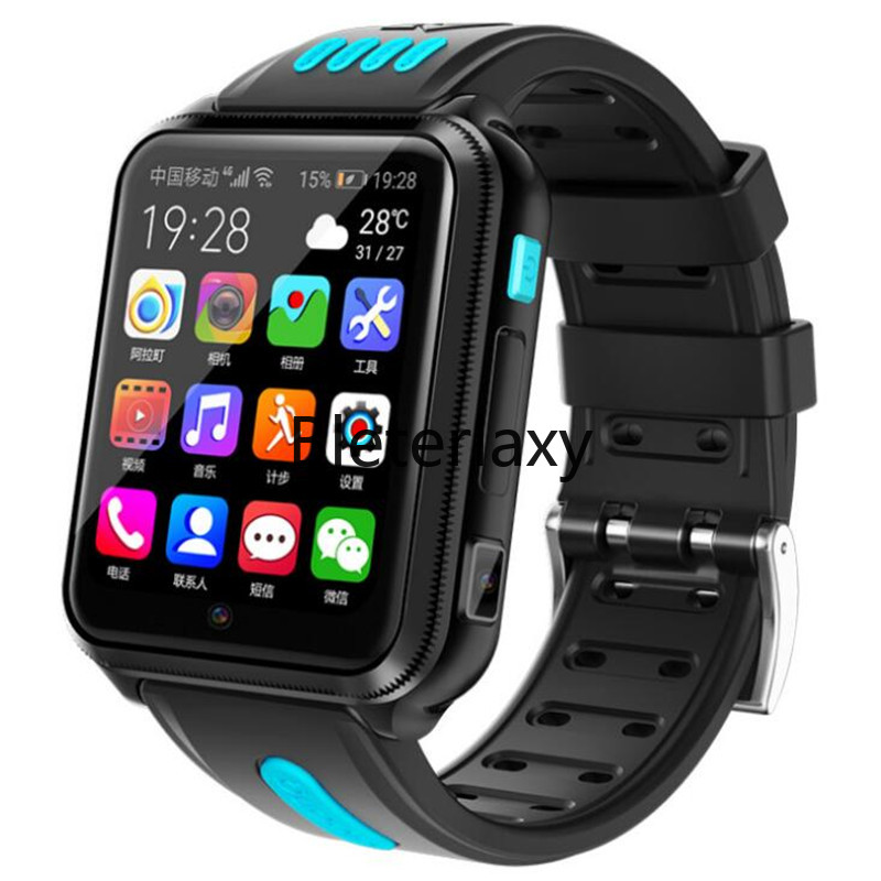 <font><b>4G</b></font> Kid Student GPS smart Remote watch Android phone <font><b>SmartWatch</b></font> with Sim Card and TF card Dual camera wifi Google Play watches H1 image