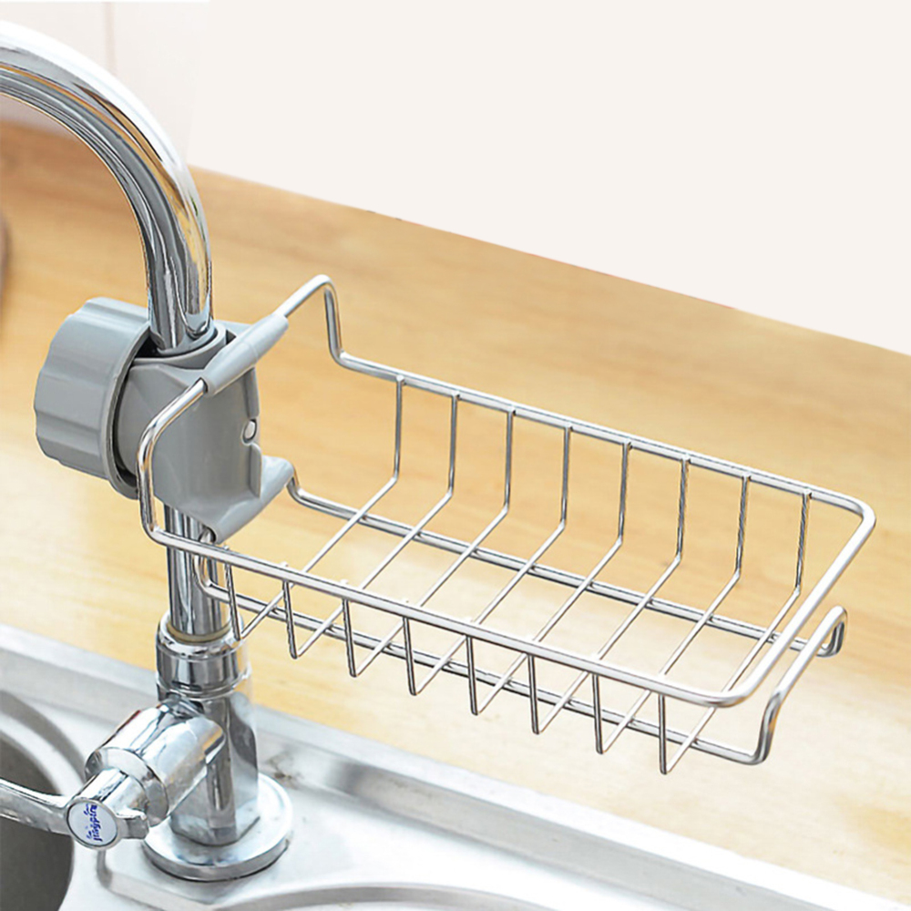 Kitchen Organizer Storage Rack Faucet Shelf Stainless Steel Dishwashing Drainer Filter Water Rack Escurridor De Platos Hot D11