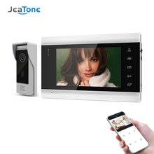 Jeatone 7 дюймовый беспроводной wi fi умный ip видеодомофон