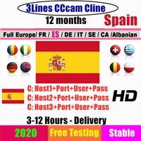 Estável 3 linhas cccam cintas para 1 ano europa cccam cline espanha portugal polónia servidor estável oscam alemanha receptor satélite