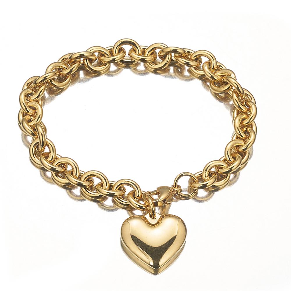 Granny Chic Female Necklaces 316L Stainless Steel Chain Heart Pendant Necklace For Women Silver Gold Color Cool Jewelry