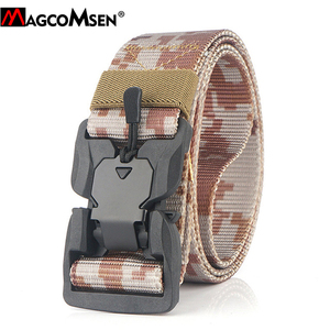 Image 5 - MAGCOMSEN Nylon Tactical Belts Men Multicam Military Heavy Duty Quick Release Belts Waistbands Army Airsoft Gears Paintball