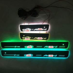 Image 4 - For ACCORD Door Dynamic LED Lamp Sill Scuff Plate Welcome Pedal Car Styling Twinkle door sills lighting For Honda accord