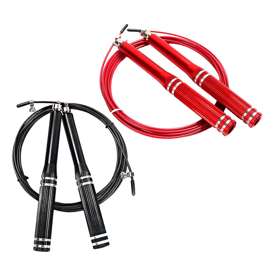 Adjustable Jump Rope with Anti-Slip Handles, 360 Degree Universal Bearing Rotation Jump Rope for Workout