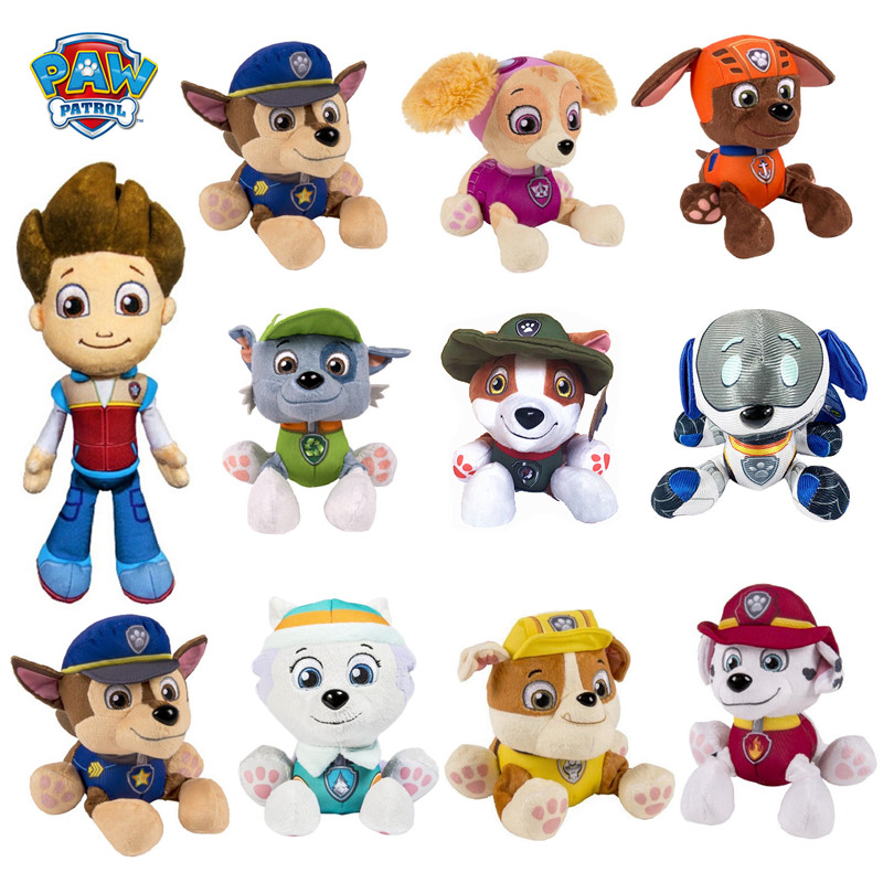 New Paw Patrol Dog Plush Toy Psi Pat Pat Patrouille Paw Patrol Plush Toy Puppy Toy Patrol Boy Girl Birthday Christmas Present