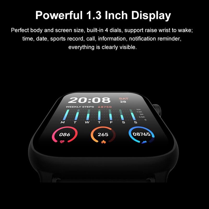 Tiso w37 Bluetooth smart watch band 1.3 inch screen sport sleep heart rate fitness blood pressure oxygen tracker IP68 waterproof 3