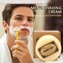 Shaving Cream Men's Mustache Shaving Soap Facial Care Goat Milk Beard Shaving Cream Beard Removal 100g TSLM1