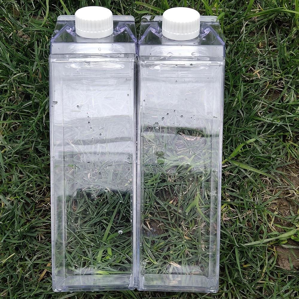 0.5L Water-Bottle Drinkware Shaker Sports Square Milk Water Bottle Bpa Free Waterbottle Transparent Reusable Water Jug Bottles
