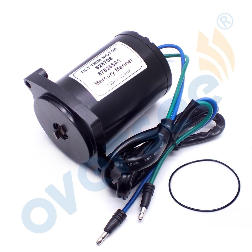 828708 Tilt Trim Motor For Mercury Marine Outboard Motor Parts 135-225HP 828708 878265A1 10826
