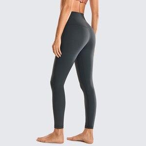Image 4 - Syrokan feminino fosco escovado luz fleece leggings atlético cintura alta agachamento à prova de yoga calças 25 polegadas