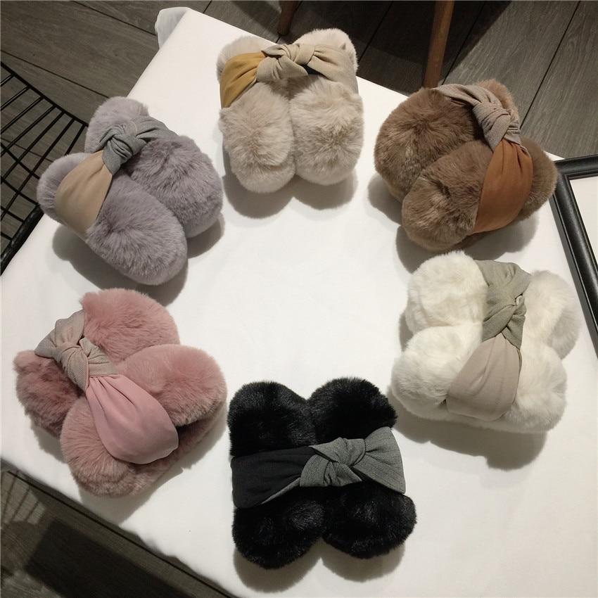 Ladies Girls Keep Warm Earmuffs Adjustable Furry Ear Muffs Comfy Soft Snow Outdoor Winte Comfort Earmuffs