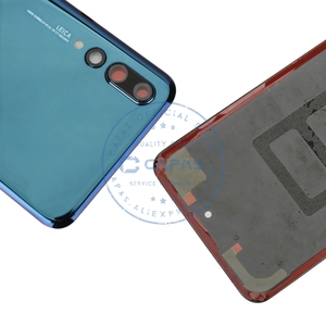 Image 4 - Original For Huawei P20 Pro Back Battery Cover + Camera Glass Lens For Huawei P20 Pro Rear Battery Door Cover Replacement