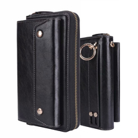 CKHB PU Leather Clutch bag Style Universal 1.0~6 For iphone X XS Max 6s 7 8 Plus galaxy S8 S9 Plus wallet purse phone bag&case