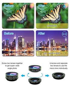 Image 2 - Tokohansun hd 7in1カメラ電話レンズ4 18kワイドマクロレンズ肖像スーパー魚眼レンズcplフィルターiphone 7 8サムスンのスマートフォン