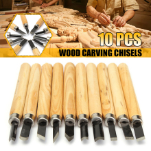 DOERSUPP 10 шт./лот резьба по дереву долотом нож для основной резки дерева DIY инструменты и подробные Деревообрабатывающие инструменты