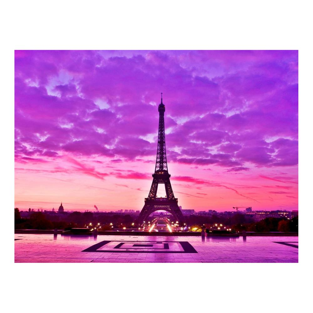 Eiffel Tower Propylene Painting By Numbers Drawing Canvas Kits Wall Arts Decors