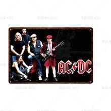 [XIEXIE]Customizable Retro Classic Tin Sign Plaque AC DC Band Club Pub Bar Cafe Decor Art Print Poster Home Decor