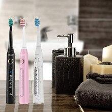 Seago – brosse à dents électrique SG-507, nettoyage et blanchiment des dents, 3 têtes de rechange, 5 Modes, Rechargeable par USB