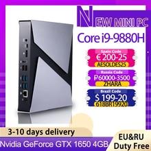 トップゲームコンピュータインテルcore i9 9880h 8950HK i7 9750h i5 9300h GTX1650ミニpcのwindows 10プロ2 * DDR4 4 hdmi dpタイプc ac無線lan