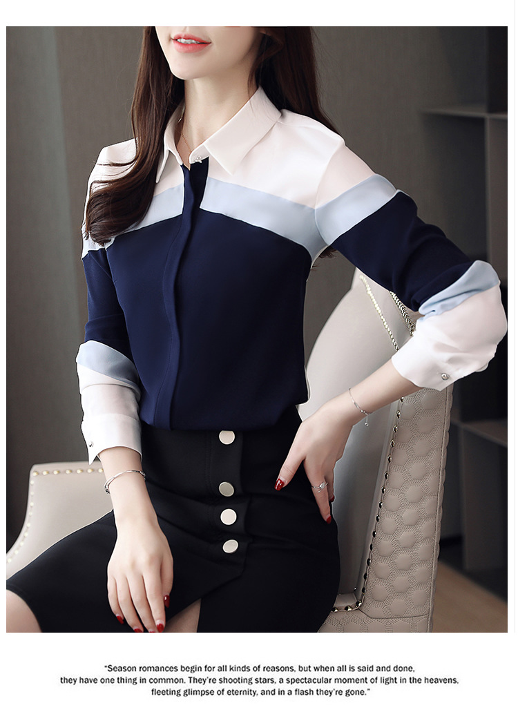 H85487be9cc824b7ba0caca3250407229J - womens tops and blouses chiffon blouse shirts women tops long sleeve ladies tops button spliced office lady plus size