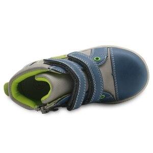 Image 4 - Обувь Apakowa для мальчиков, детская обувь из искусственной кожи на молнии, модные детские ботильоны с заплатками, демисезонные ботинки, европейские размеры 22 27