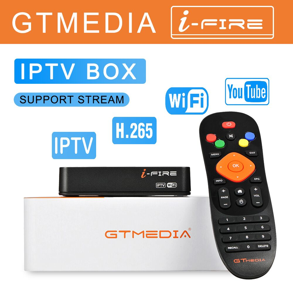 Original IFIRE IPTV BOX For Smart TV Box Built In WiFi IPTV Media Player Set Top Box Support IPTV Channels Live TV, VOD IPTV Box