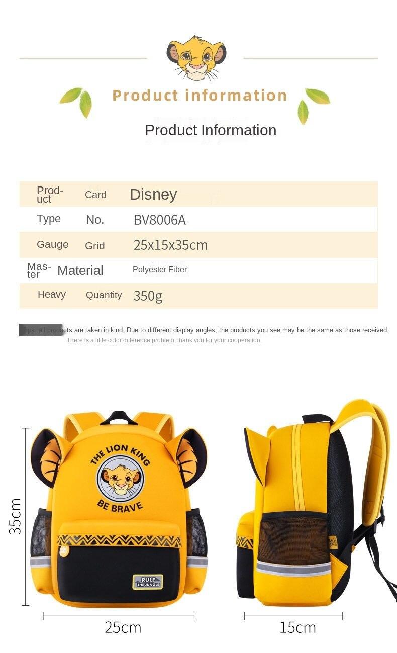 leão, king simba, com estampa, mochilas elegantes para meninos