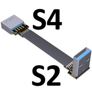 Image 5 - USB 3.0 câble plat USB câble dextension mâle à femelle câble de données à Angle droit USB3.0 cordon dextension pour PC TV USB câble dextension