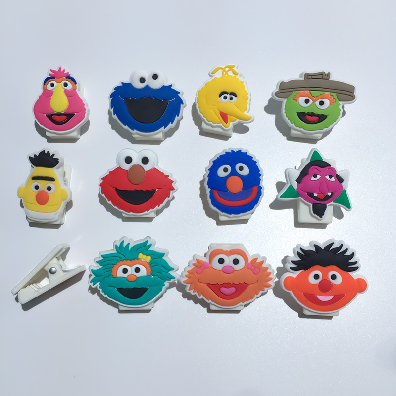 1PCS Sesame Street Elmo Paper Clips Office Accessories School Supplies Convenient Clip Earphone Data Line Organizer Binder