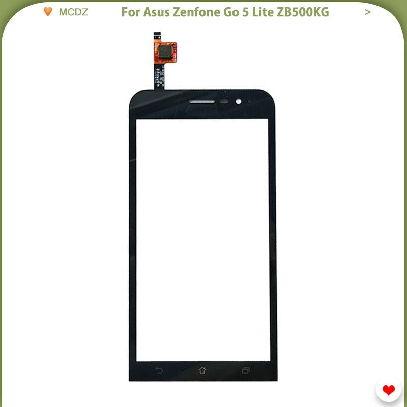 Новый сенсорный экран для Asus Zenfone Go 5 Lite zb500кг, сенсорный датчик, переднее стекло, дигитайзер, панель