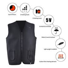 USB Infrared Heating Vest Jacket Adjustable USB Flexible Men Women Outdoor Electric Thermal Clothing Waistcoat Fishing Hiking(China)
