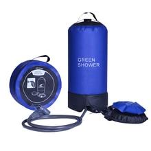 Надувной душ с ножным насосом, легкий портативный мешок для душа из ПВХ, 12 л, для походов и отдыха на открытом воздухе