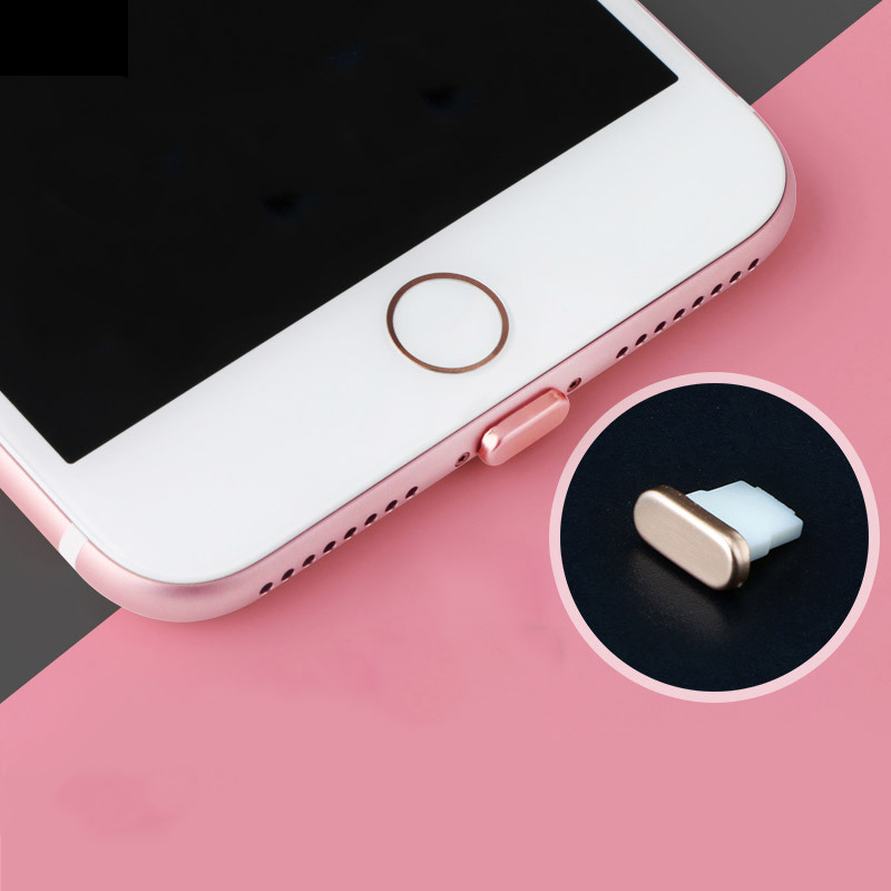 Metal Mobile Phone Dust Plug For iPhone 11 PRO MAX Card pin 7 8 XR XS Power Plug Charging Port Accessories