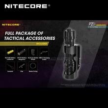 USB C şarj edilebilir NITECORE P20i 1800 lümen i nesil 21700 taktik el feneri ile NL2140i 4000mAh pil