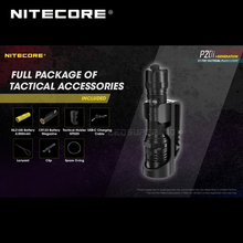 USB C nitecore recarregável p20i 1800 lumens i geração 21700 lanterna tática com nl2140i 4000mah bateria